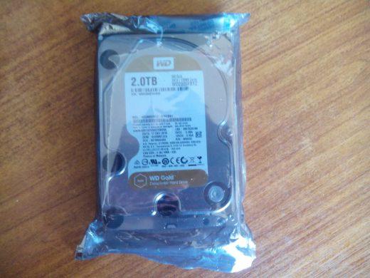 WD Gold 2 TB (WD2005FBYZ) в упаковке